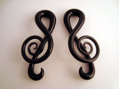 Glass Treble Clefs