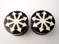 Horn Chaos Star Inlay Plugs