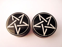 Wood Pentagram Inlay Plugs