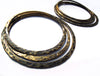 Antiqued Brass Hammered Stacking Hoops