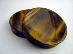 Giant Concave Tiger's Eye Plugs