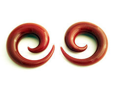 Glass Spirals Red