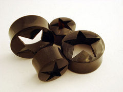 Horn Cut Out Star Plugs