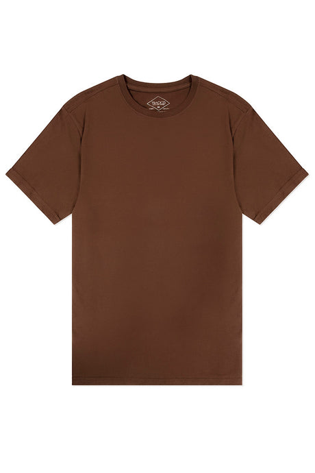 Basic Crewneck T-Shirt - Brown
