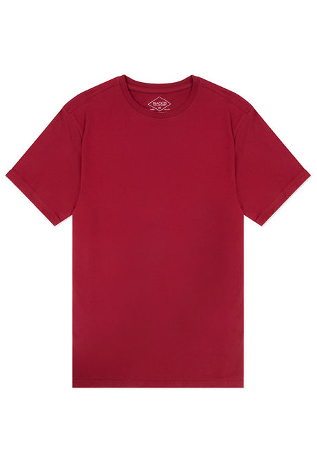 Basic Crewneck T-Shirt - Burgundy