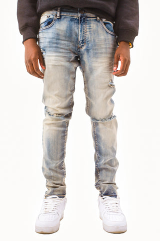 Denim Jeans with Blow Out Knees - Vintage