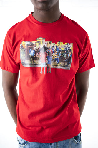 Community Graphic T-Shirt - Red