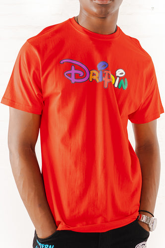 Drippin Graphic T-Shirt - Red