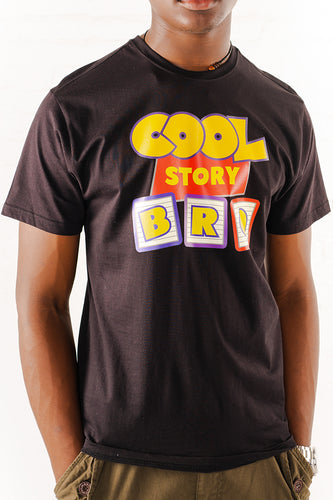 Cool Story Bro Graphic T-Shirt - Black
