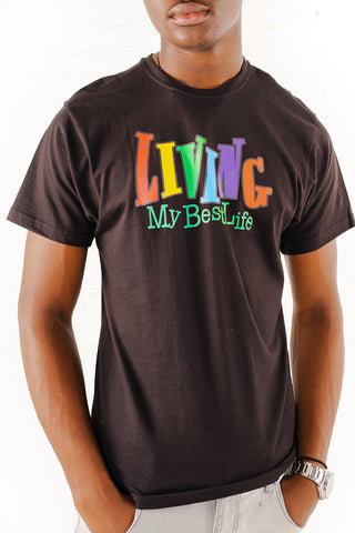 Living My Best Life Graphic T-Shirt - Black