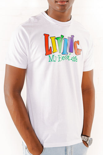 Living My Best Life Graphic T-Shirt - White