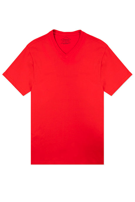 Basic V-Neck T-Shirt - Red