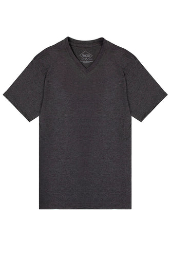 Basic V-Neck T-Shirt - Charcoal