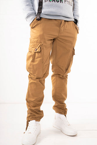 Slim Fit Belted Cargo Pants - Timber