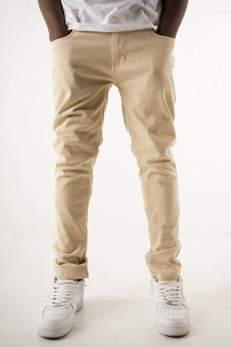 Core Essential Twill Jeans - Light Khaki