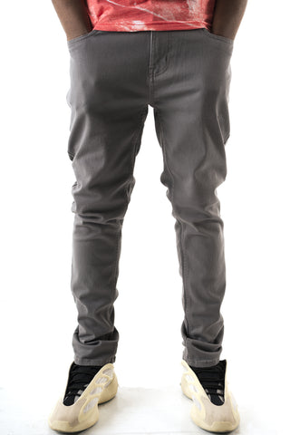 Core Essential Color Twill Jeans - Grey