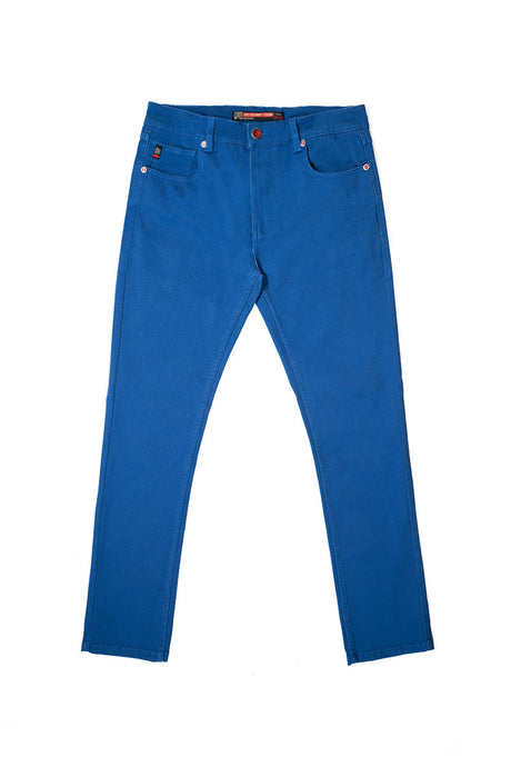 Core Essential Color Twill Jeans - Slim Straight Fit - Royal