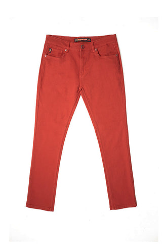 Core Essential Color Twill Jeans - Rust