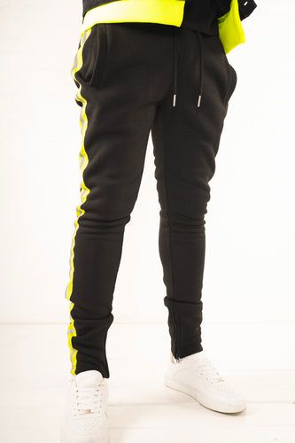 Fleece Pants with Reflective Tape - Black