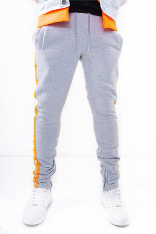 Fleece Pants with Reflective Tape - H.Grey