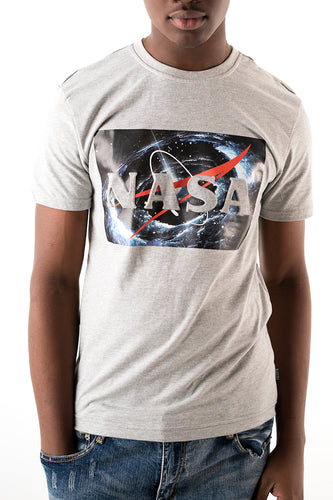 Nasa Graphic Tee - Heather Grey
