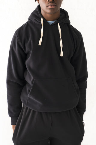 Core Essential Fleece Pullover Hoodie - Black