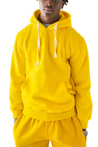 Core Essential Fleece Pullover Hoodie - Gold
