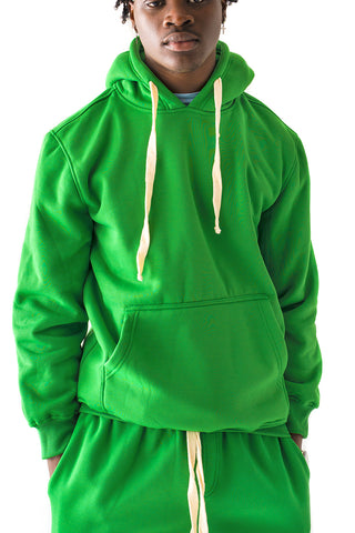 Core Essential Fleece Pullover Hoodie - Green