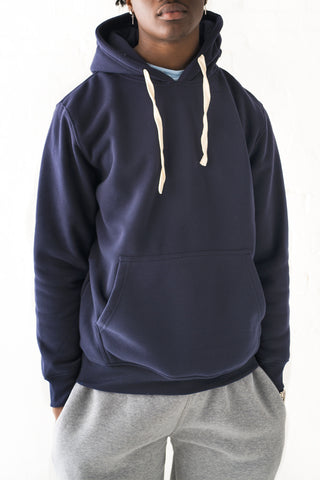 Core Essential Fleece Pullover Hoodie - Navy