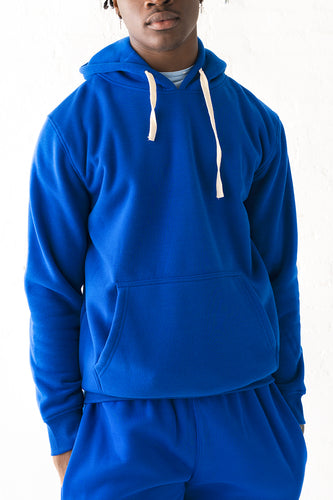 Core Essential Fleece Pullover Hoodie - Royal Blue