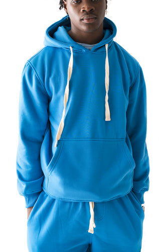 Core Essential Fleece Pullover Hoodie - Turquoise