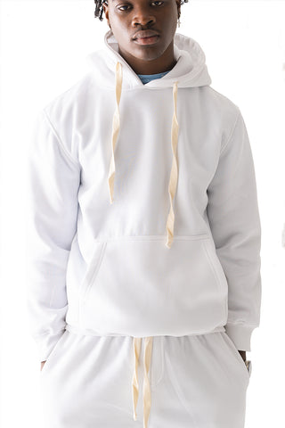 Core Essential Fleece Pullover Hoodie - White