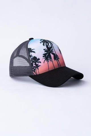 Tropical Trucker Hat - Dark Grey