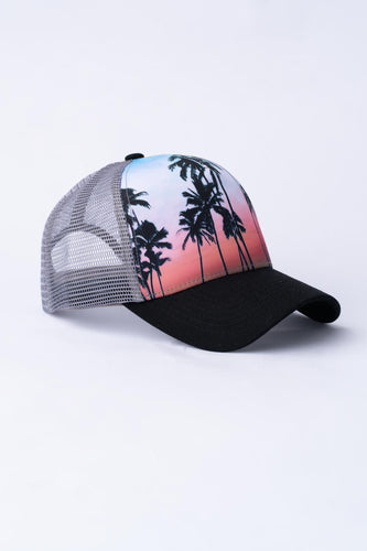 Tropical Trucker Hat - Grey