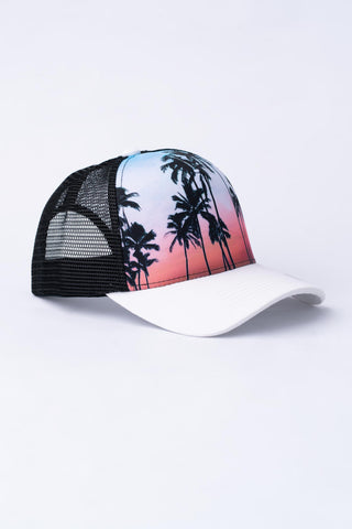 Tropical Trucker Hat - Black