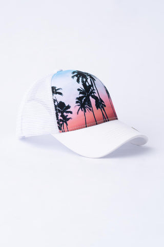 Tropical Trucker Hat - White