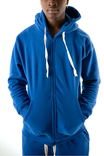 Core Essential Fleece Full Zip Hoodie - Royal Blue