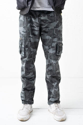 Essential Cargo Pant - Grey Camo