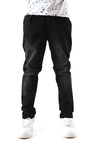 Washed Skinny Jean - Black Sandblast