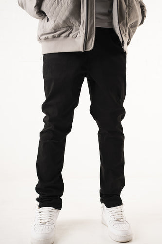 Washed Skinny Jean - Jet Black