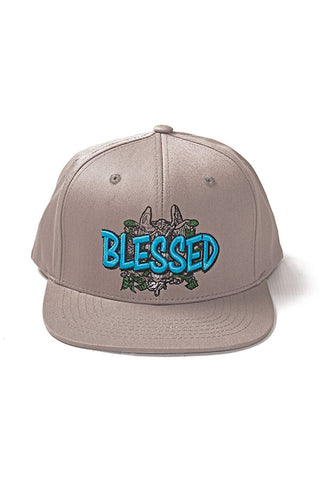 Blessed - Snap Back Hat - Grey