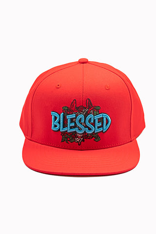 Blessed - Snap Back Hat - Red