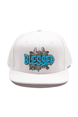 Blessed - Snap Back Hat - White