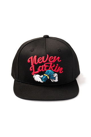 Never Lackin' - Snap Back Hat - Black