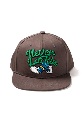 Never Lackin' - Snap Back Hat - Dark Grey