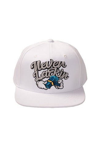 Never Lackin' - Snap Back Hat - White