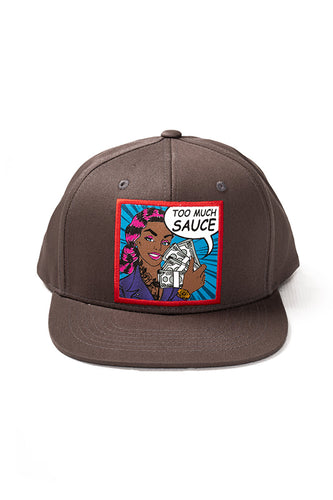 Too Much Sauce - Snap Back Hat - Dark Grey
