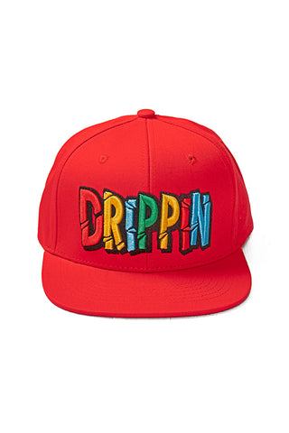 Drippin - Snap Back Hat - Red