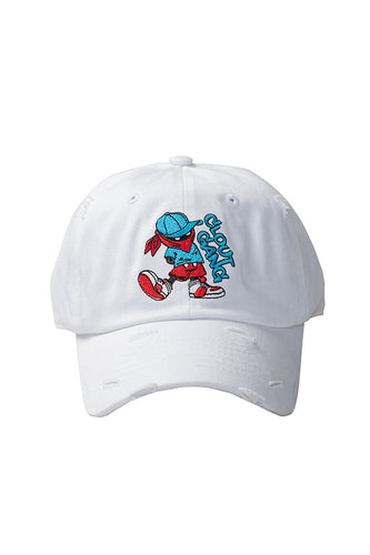 Clout Gang - Dad Hat - White