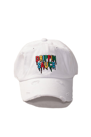 Drippin Sauce - Dad Hat - White